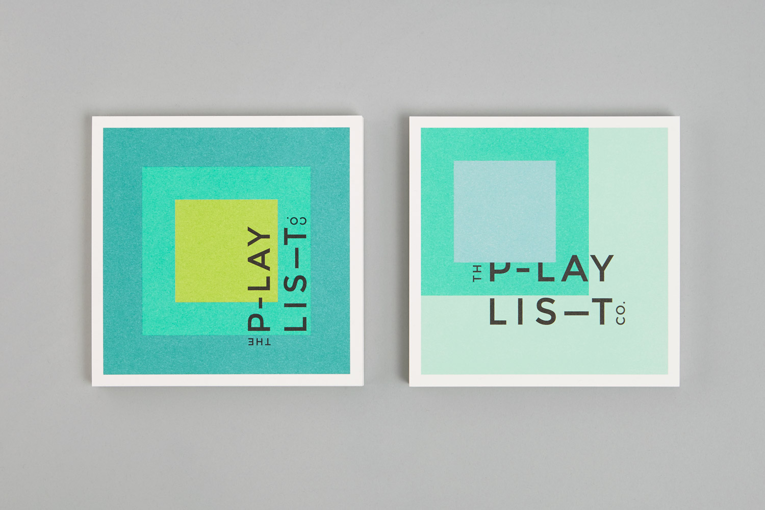 Brand identity and cards for Toronto based custom event soundtrack business The Playlist Co. by graphic design studio Blok