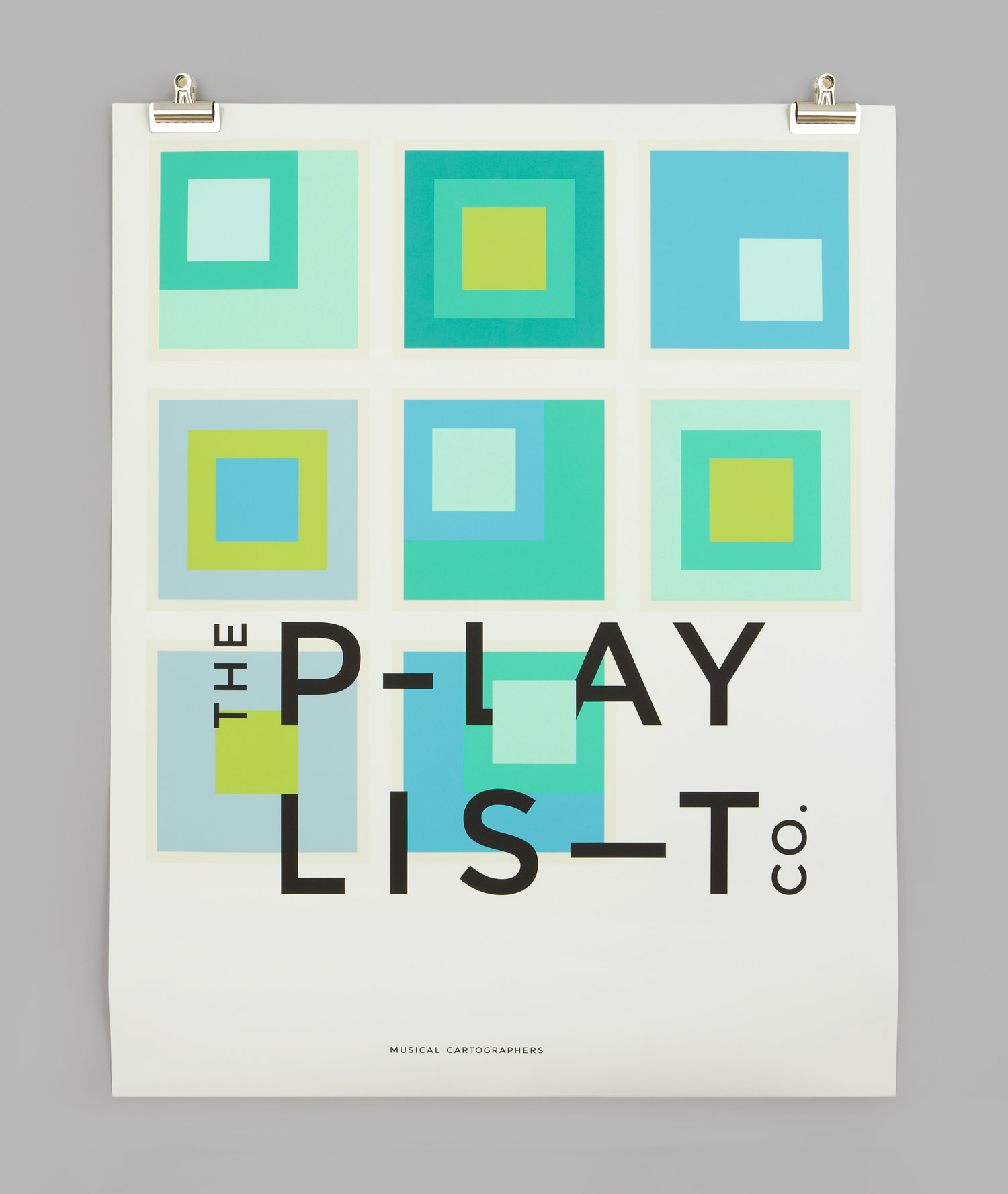 Brand identity and poster for Toronto based custom event soundtrack business The Playlist Co. by graphic design studio Blok