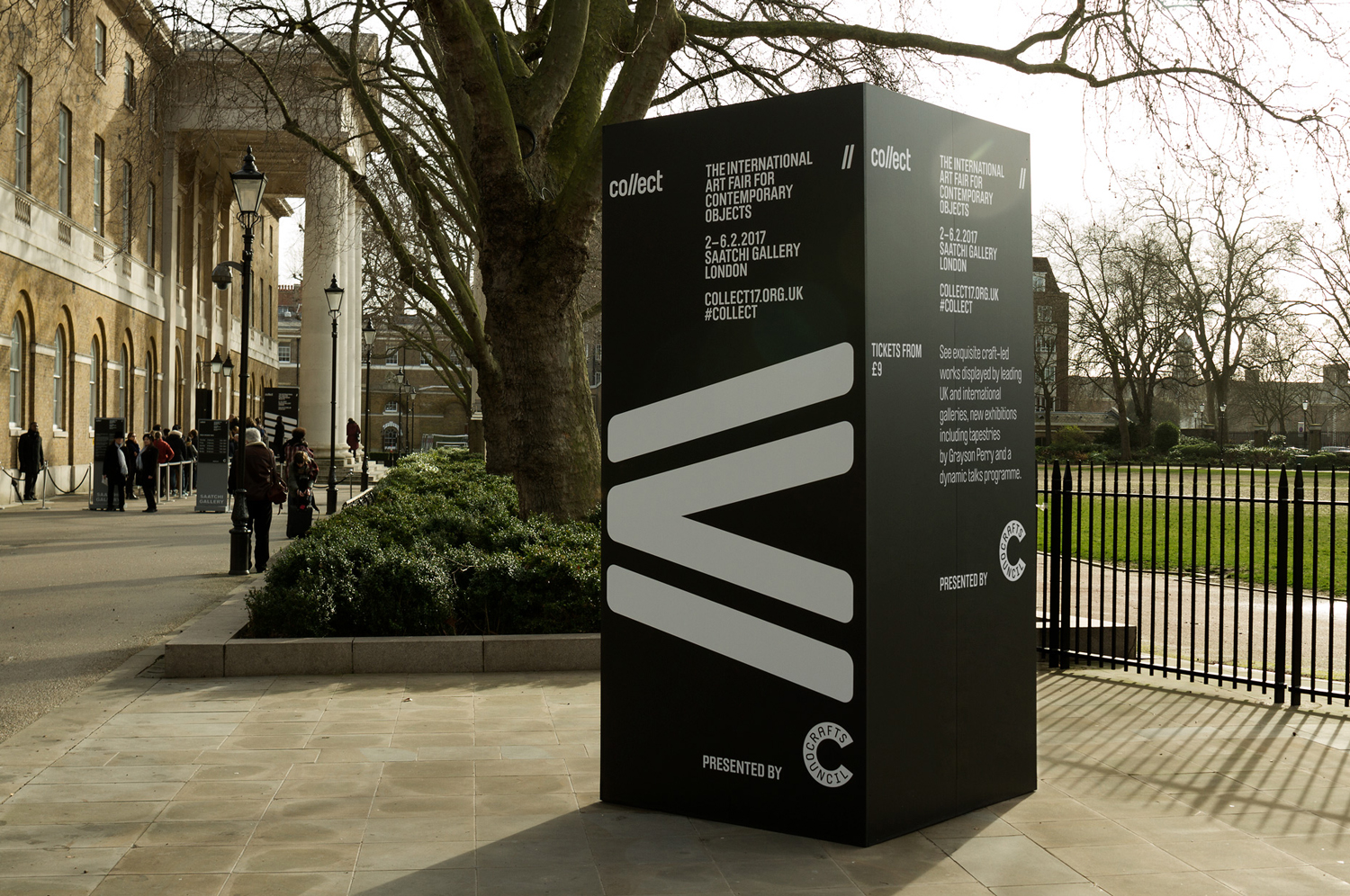 Brand identity and wayfinding for contemporary international art fair Collect, designed by Spin, London, UK
