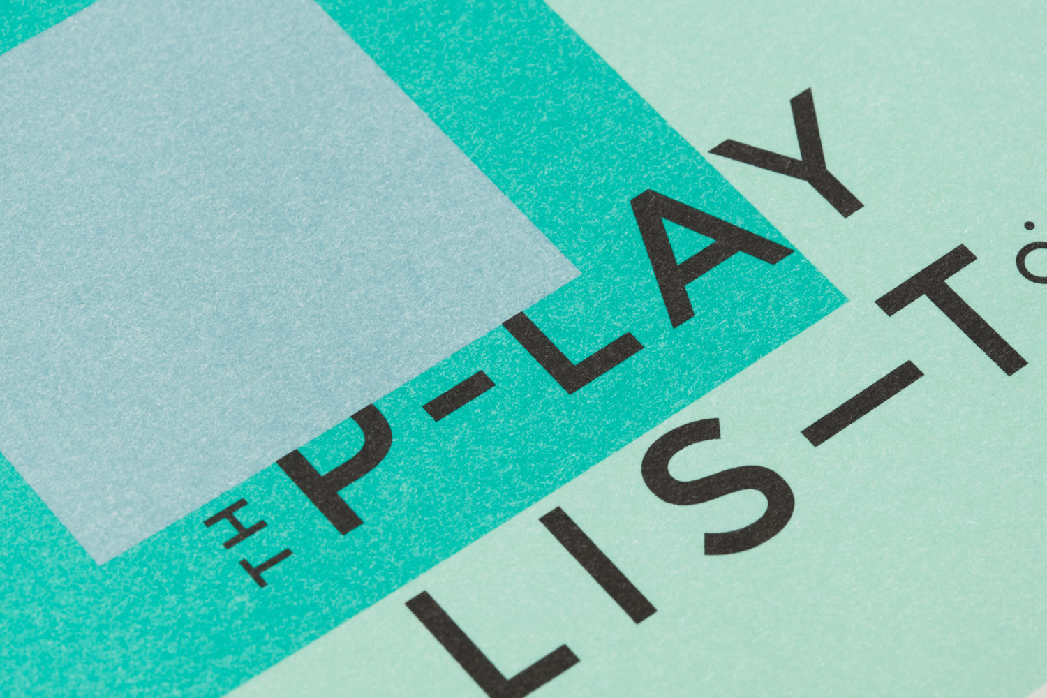 Brand identity and print for Toronto based custom event soundtrack business The Playlist Co. by graphic design studio Blok