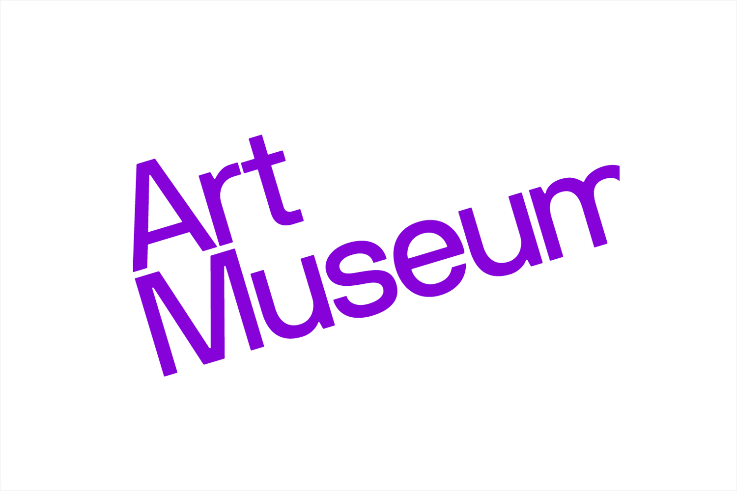 Sans-serif wordmark for Art Museum by Underline Studio