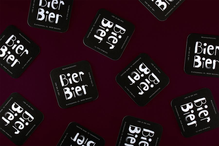 Branded Beer Mat Design Ideas –  Bier Bier by Tsto, Finland