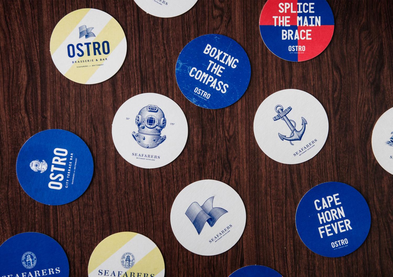 Branded Coaster Design Ideas –  Seafarers by Inhouse, New Zealand