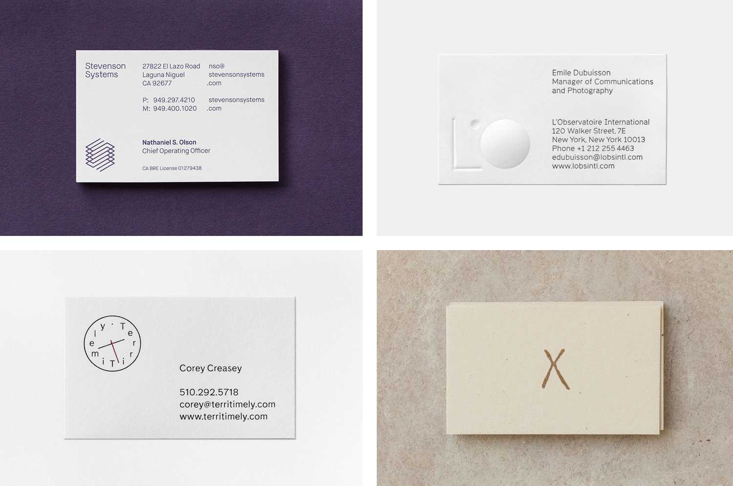 The Best of BP&O — Business Cards No.13