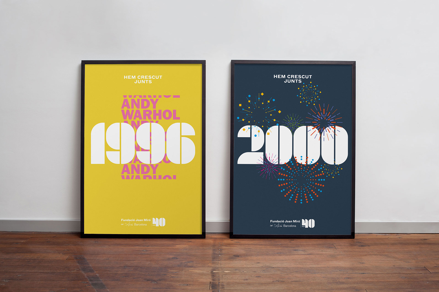 Brand identity and posters for Fundació Miró 40th Anniversary designed by Mucho