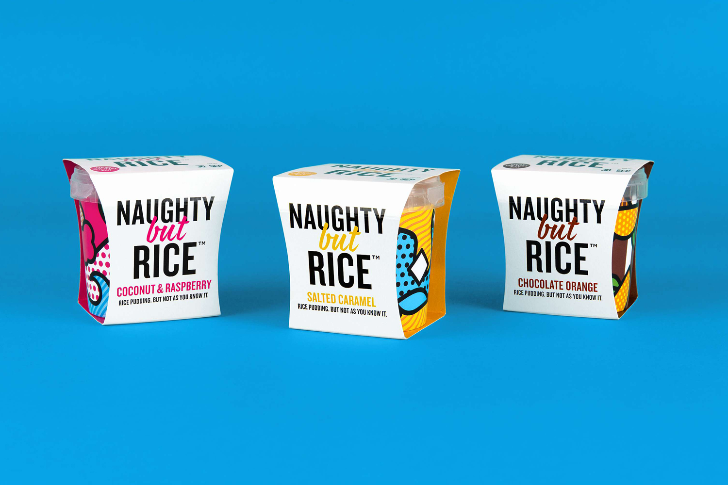 Package design Naughty But Rice by Robot Food
