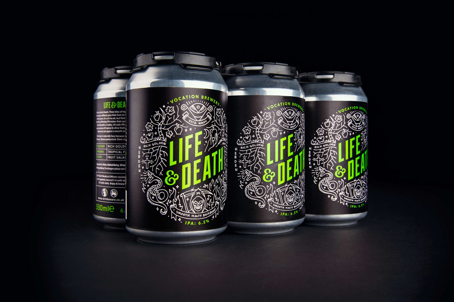 Package design for Vocation Brewery by Robot Food