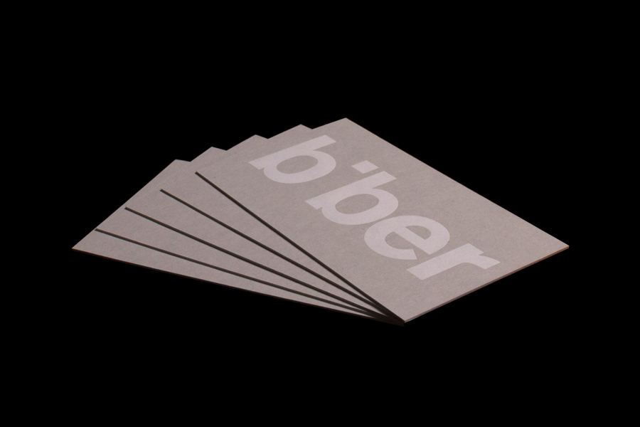 Business cards for Biber Architects designed by Spin