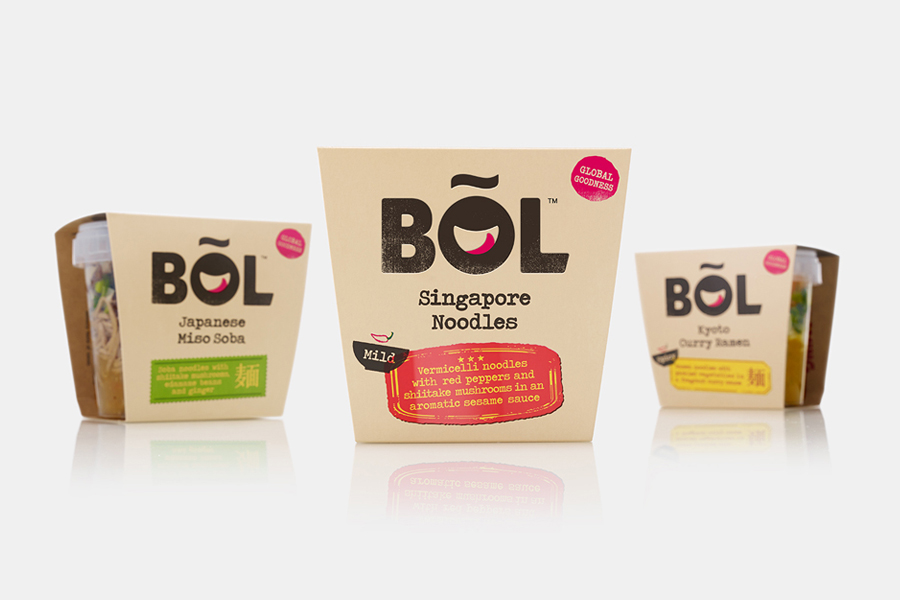 Package design and branding for Bol veg pots by graphic design studio B&B Studio