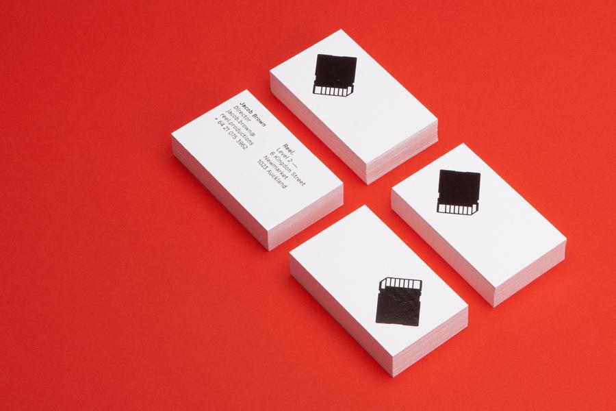 Branding for Auckland based Reel designed by Richards Partners