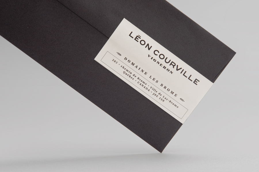 Logo and envelope for wine producer Léon Courville Vigneron by lg2 boutique