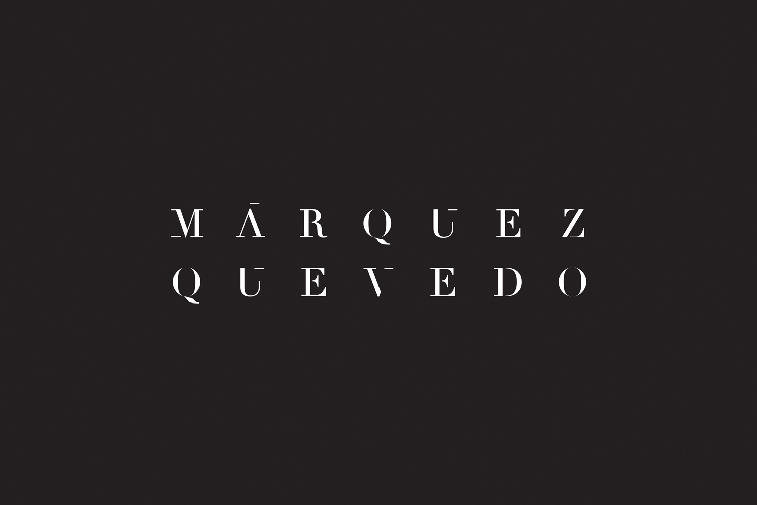 Logotype for Mexican architectural studio Marquez Quevedo by La Tortillería