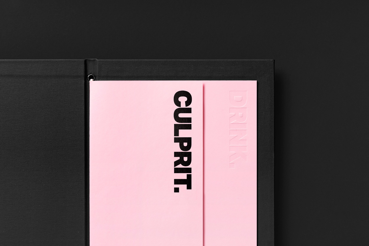 Menu Design – Culprit by Studio South, New Zealand