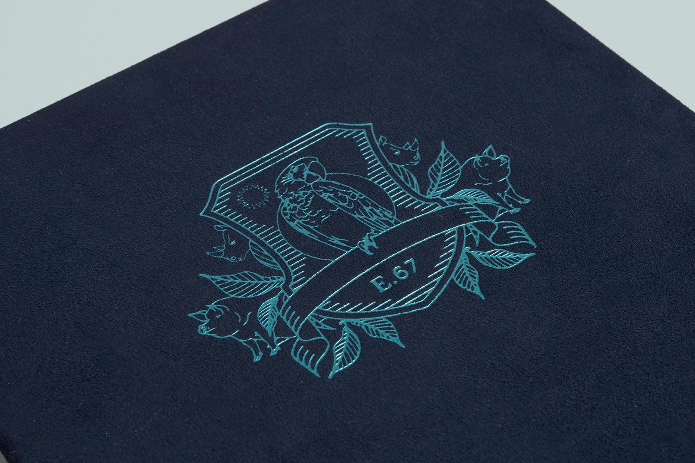 Menu Design – Earl.67 by Glasfurd & Walker, Canada