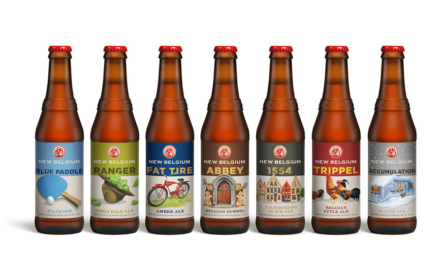 Craft beer packaging by Hatch for Colorado based employee-owned brewery New Belgium