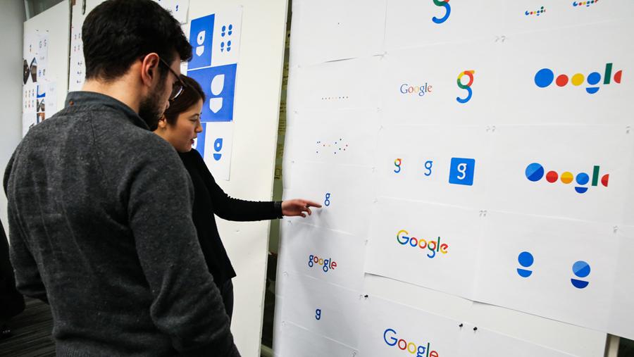New Google logo development process
