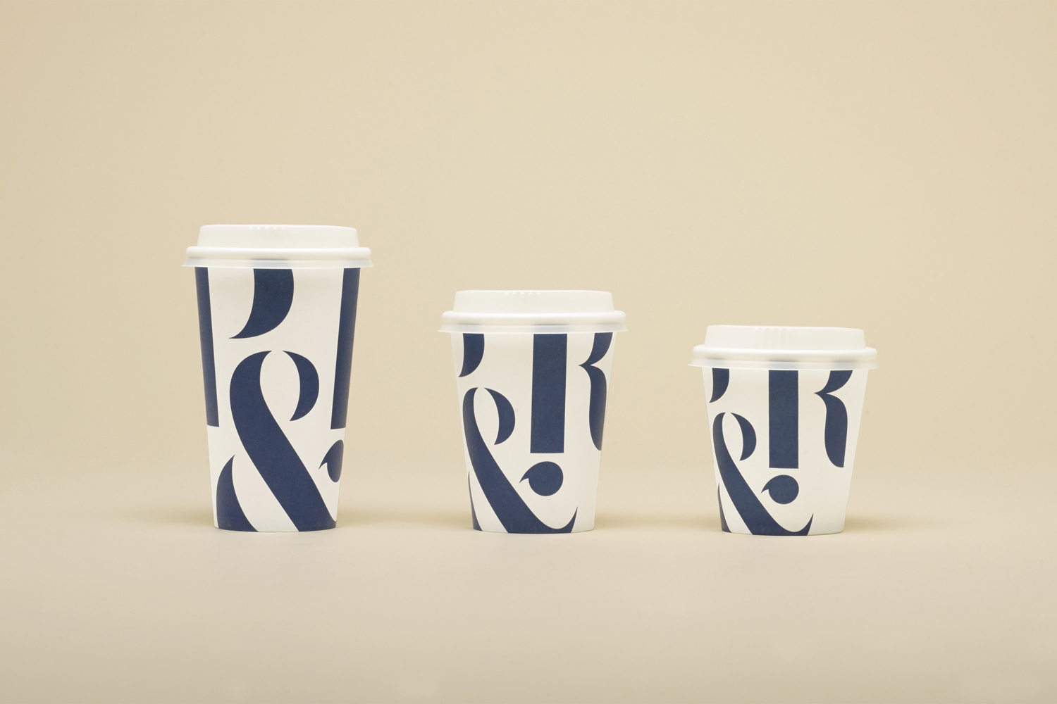 Coffee cup packaging design for Sydney based roaster Pablo & Rusty's designed by Manual