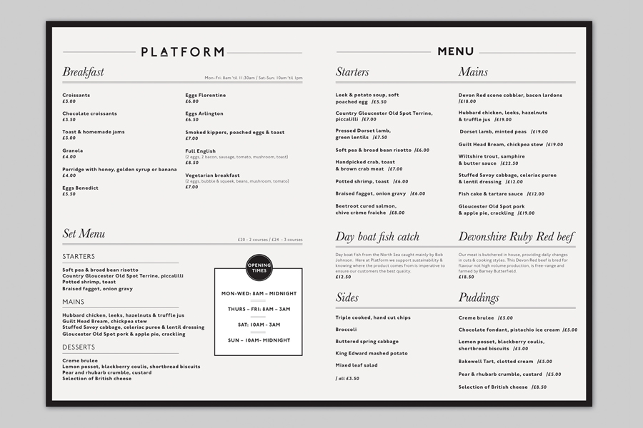 The best menu designs inspiration gallery — bp o