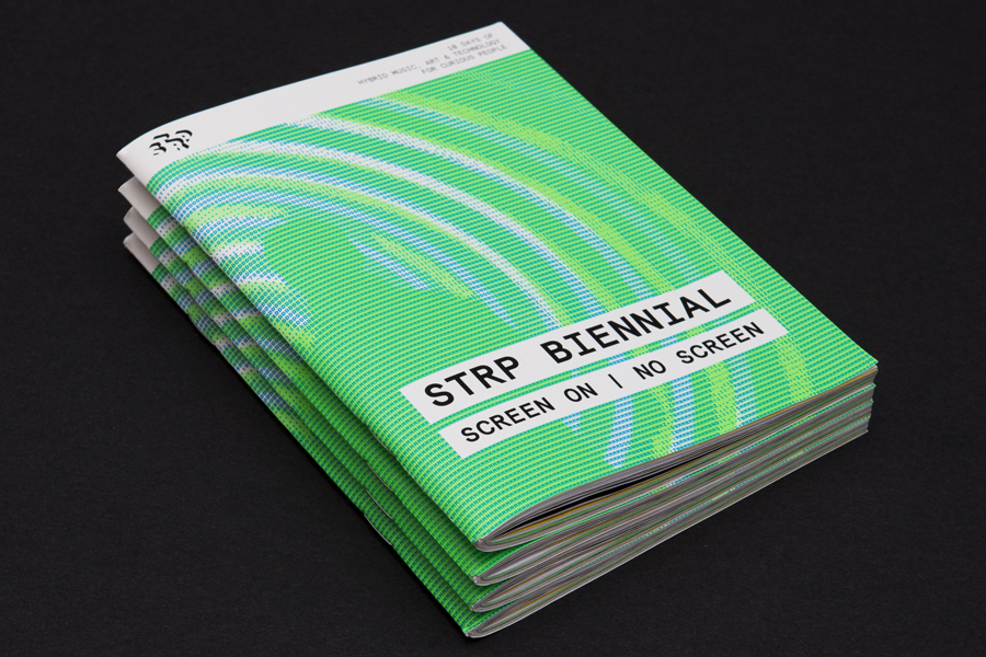 Brochure for art, cultural and technology festival STRP by Raw, Netherlands