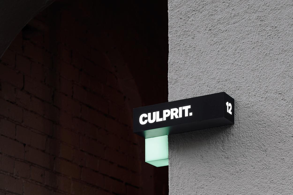 Sign Design – Culprit by Studio South