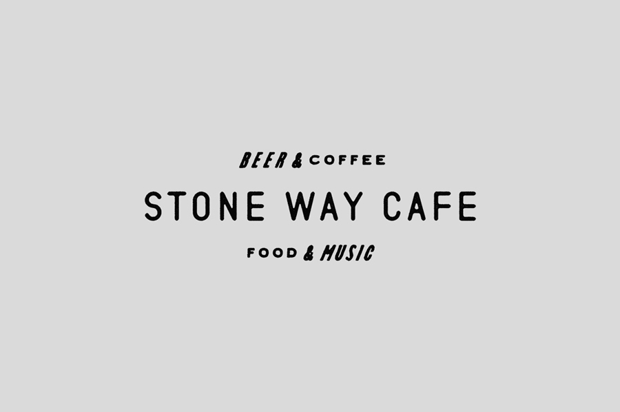 Logotype and monogram for Stone Way Cafe designed by Shore