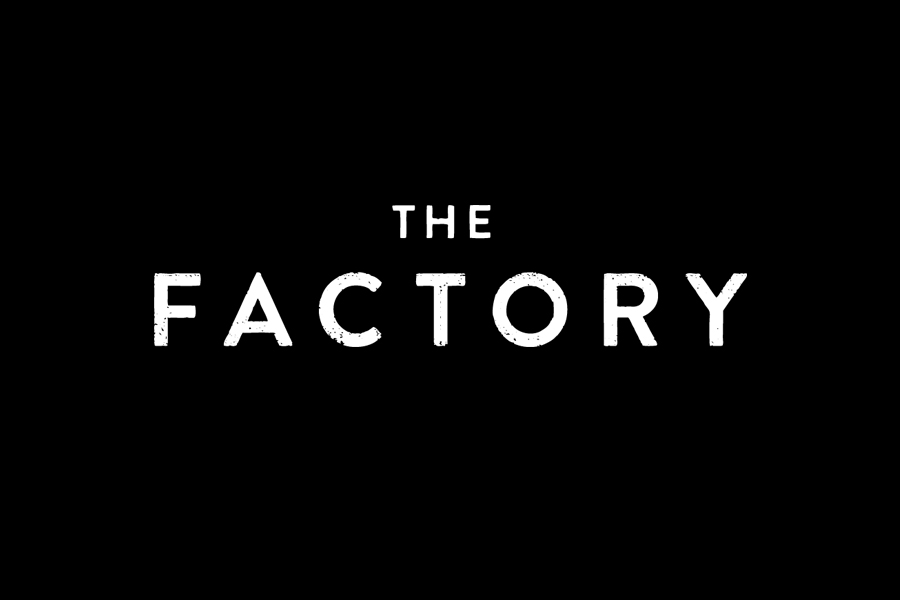 Logotype for Oklahoma City fashion store The Factory graphic design studio Ghost