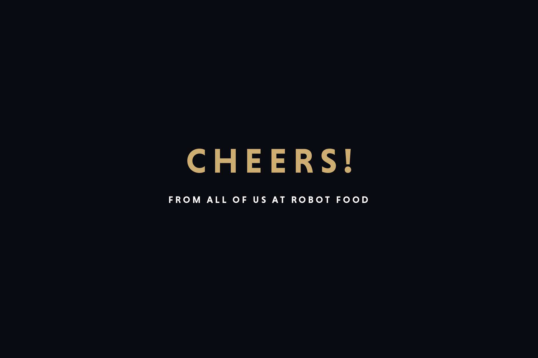 Cheers from UK graphic design studio Robot Food